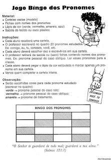 Pronome Atividades Gramatica Exercicios Para Imprimir Pronomes