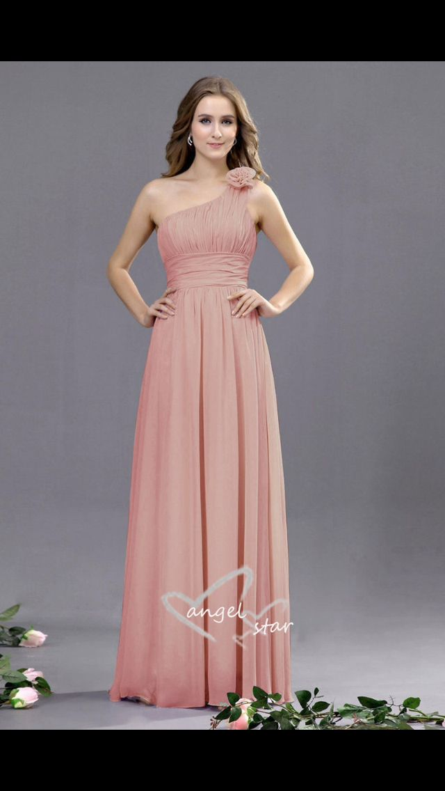 Dusky pink bridesmaid dress | Wedding Day | Pinterest | Dusky pink ...