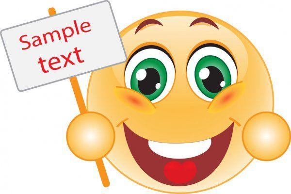 Visage souriant avec un signe