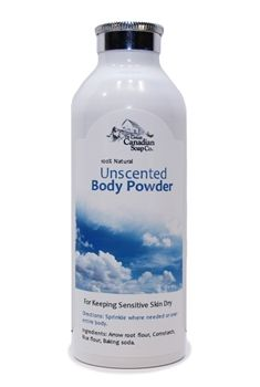 The Great Canadian Soap Co Unscented Baby Powder Body