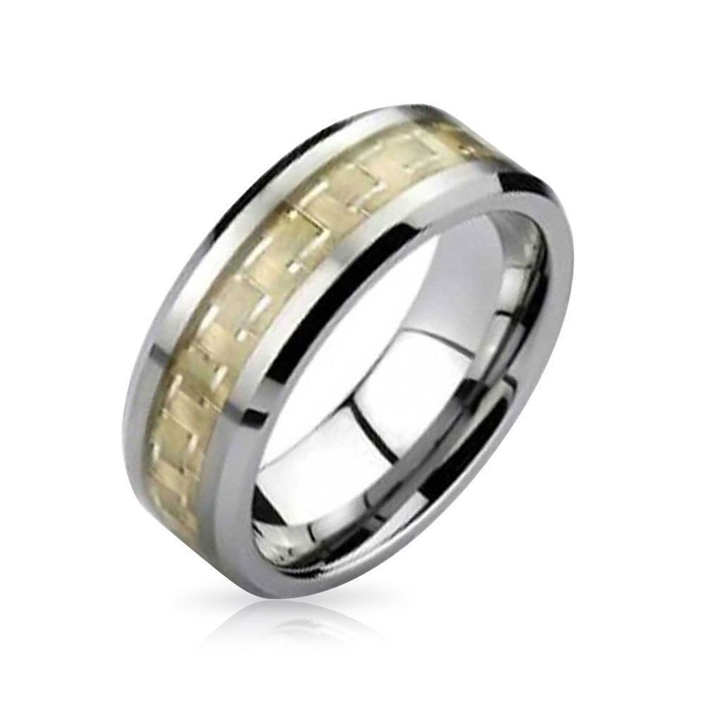 Bling Jewelry Tungsten Celtic Dragon Gold Plated Inlay Unisex Wedding Band o3p2cb
