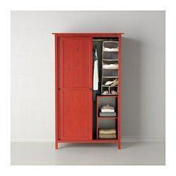 Inspirational HEMNES Kleiderschrank mit Schiebet ren rot x cm IKEA