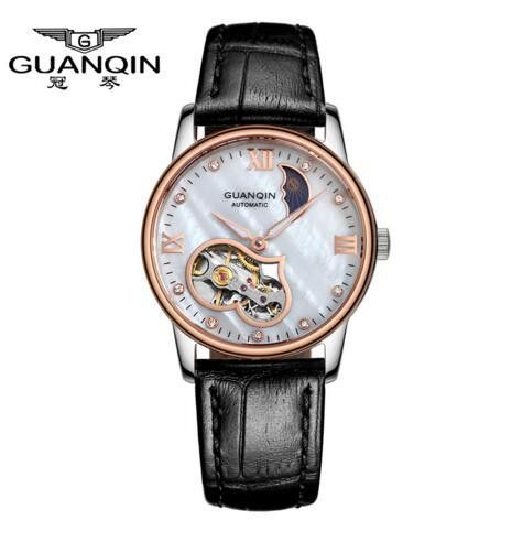 Mechanical Watches Women Tourbillon Waterproof Leather Hollow Fashion Watches