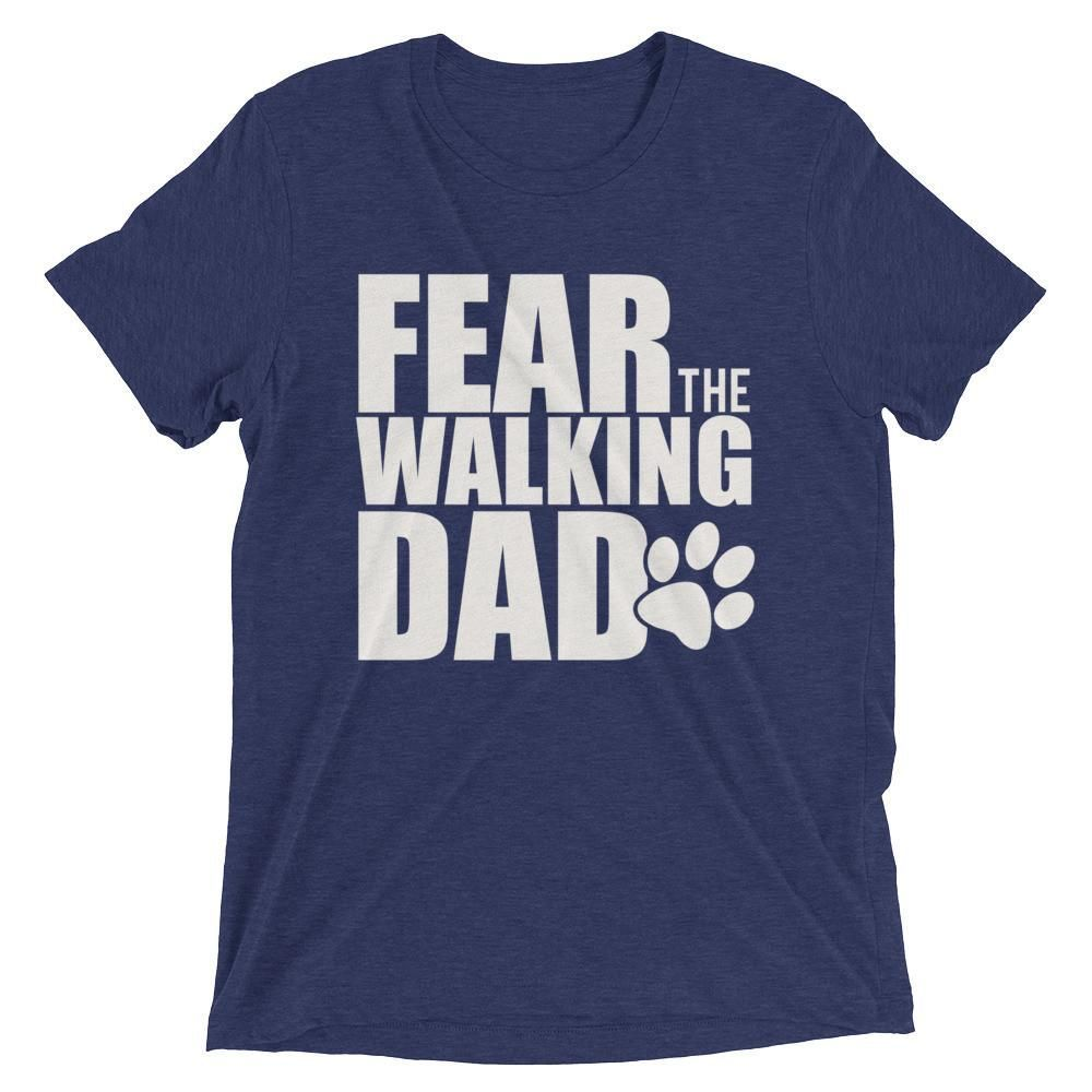 28ccdc838 Men's Fear the walking dad t-shirt - Paw Dog lover gift for men ...