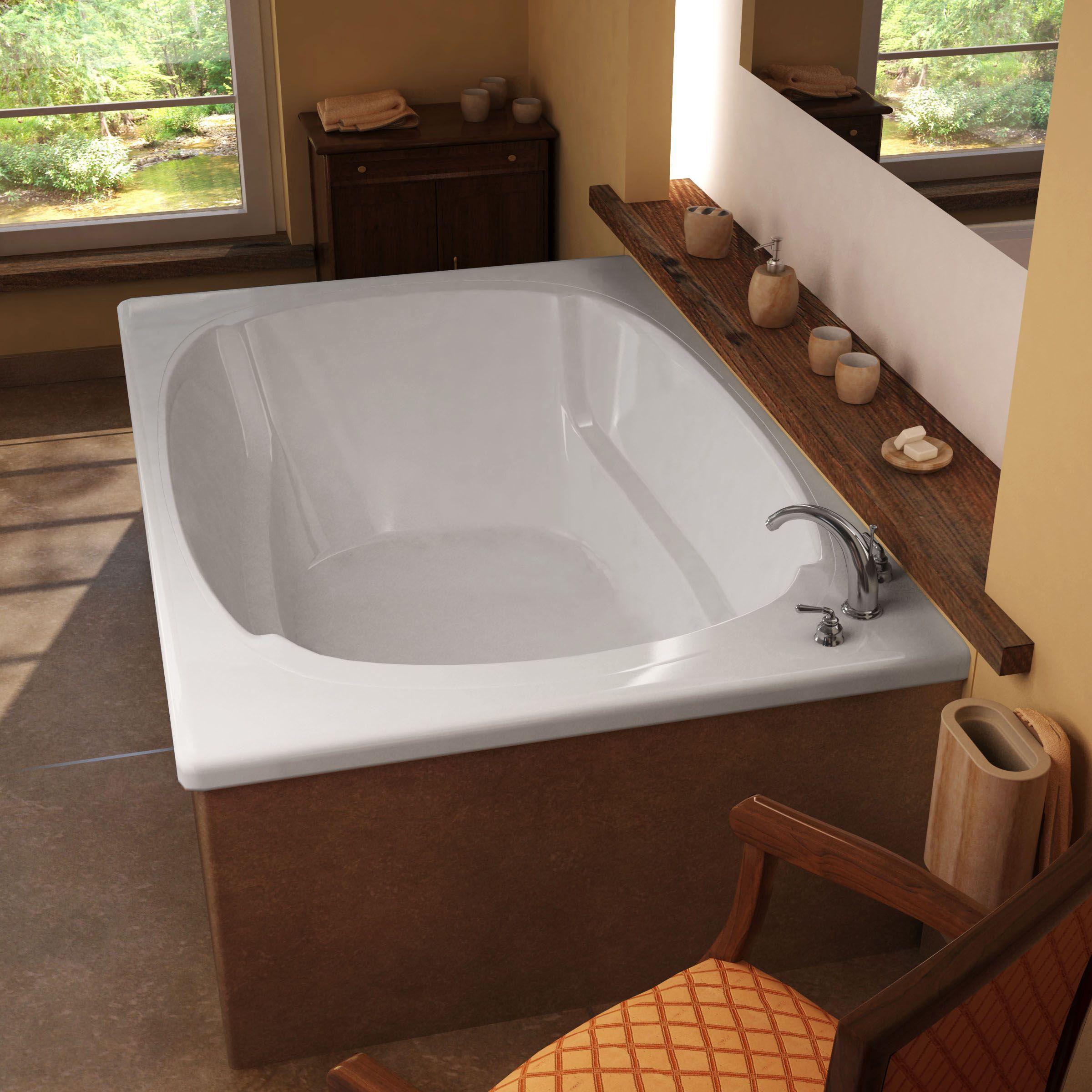 Mountain Home Summit 48 in. x 72 in. Acrylic Soaking Drop-in Bathtub ...
