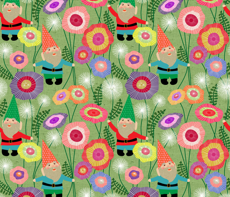 gnomes harvest fabric by vo_aka_virginiao on Spoonflower - custom fabric
