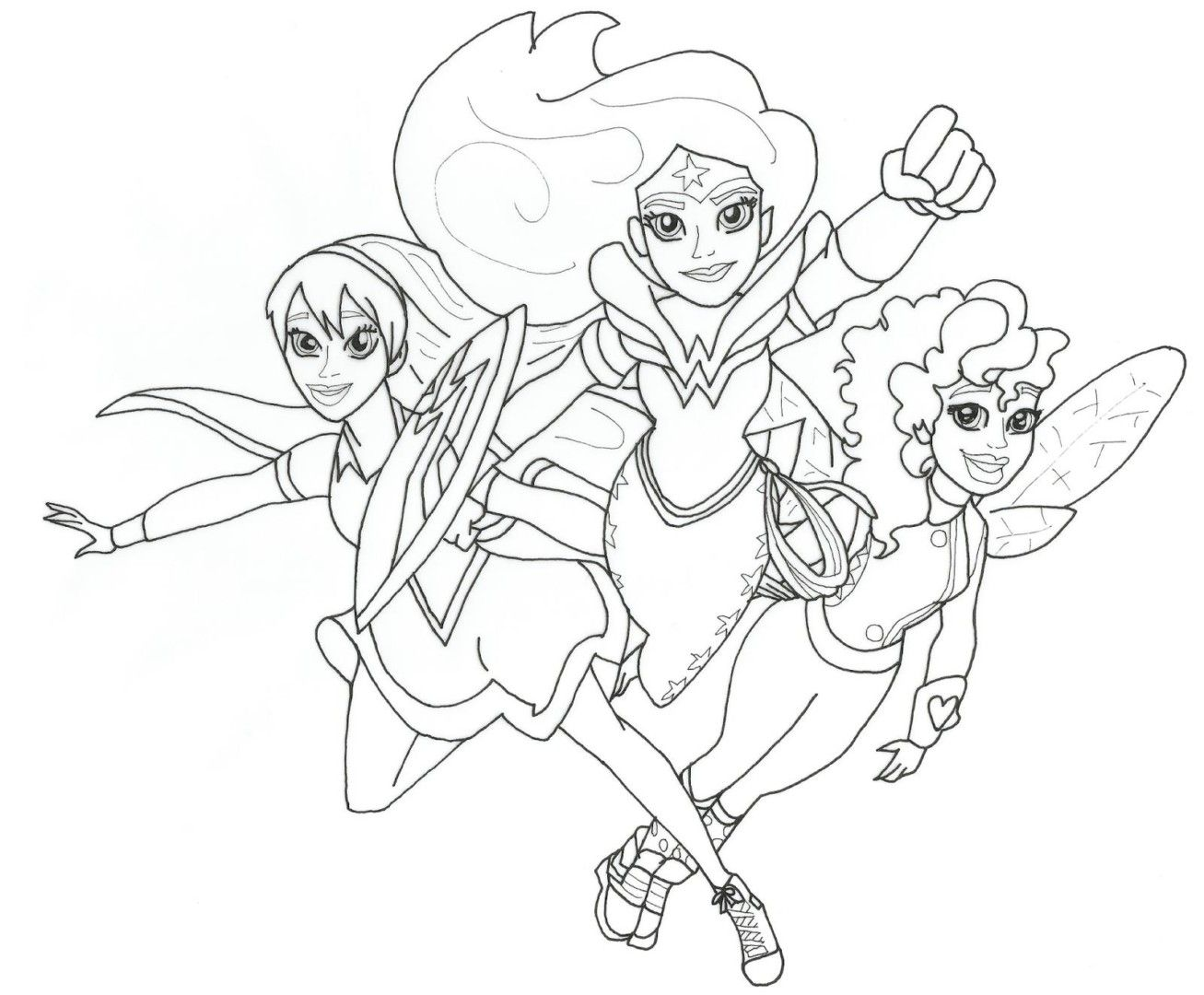 Colorings Coloring Pages Of Superhero For Girls