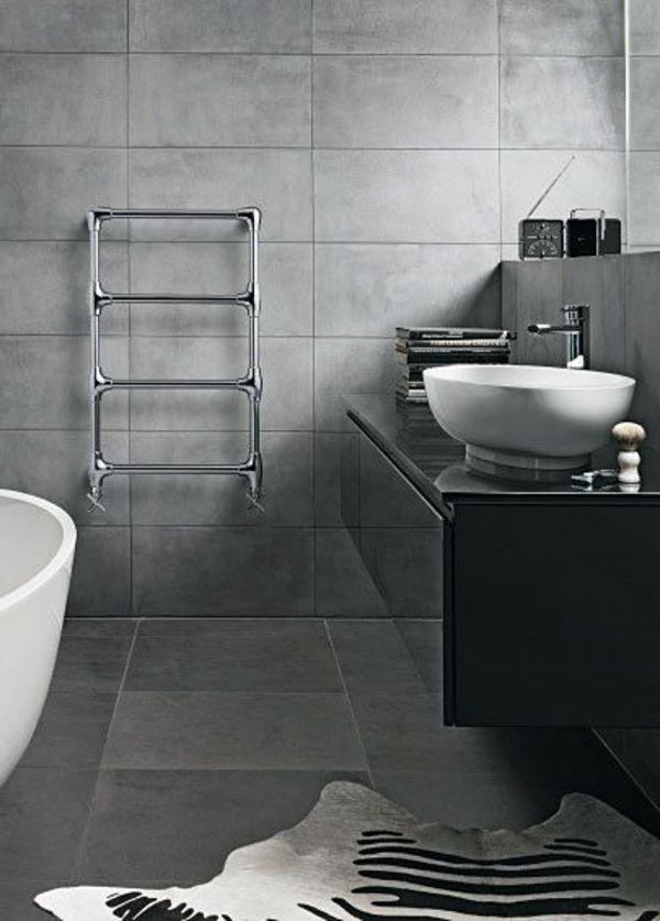 fantastische einrichtung in dem bad in grauer farbe fliesenleuchten badezimmerfarbeeinrichtungdekorationprojekteodergrau - Fantastisch Fliesen Anthrazit Bad