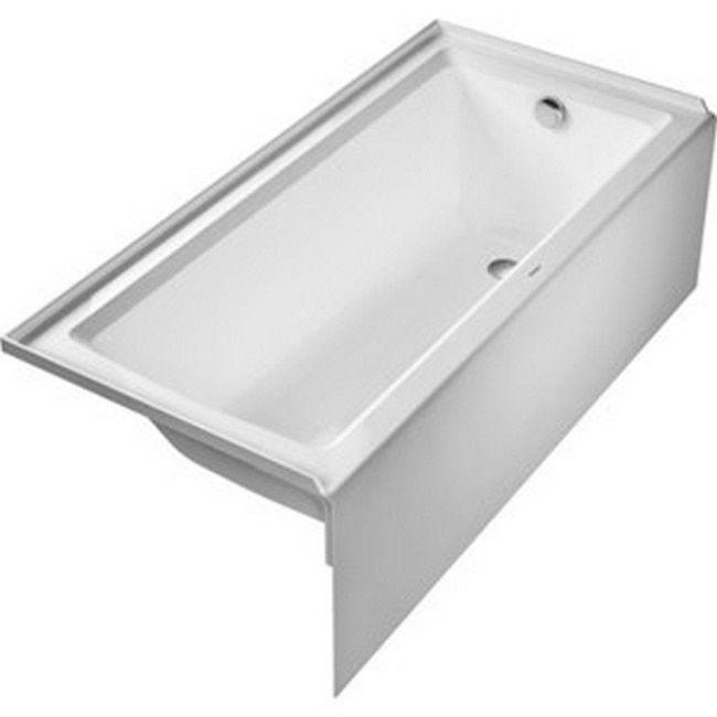 Duravit Architec 66 Inch X 22 Inch Acrylic Bathtub In White (White), Size 66  To 71 Inches