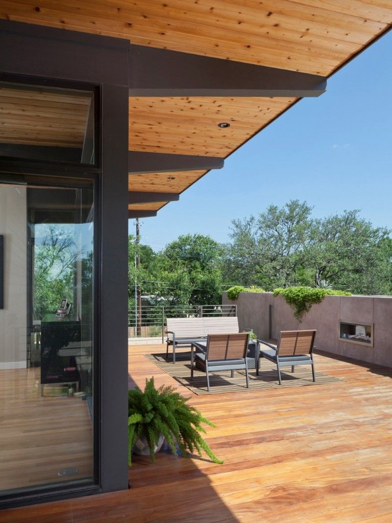 Modern Architecture And Spacious Roof Deck Barton Hills Modern Home Design Flat Roof Repair Roof Deck Flat Roof
