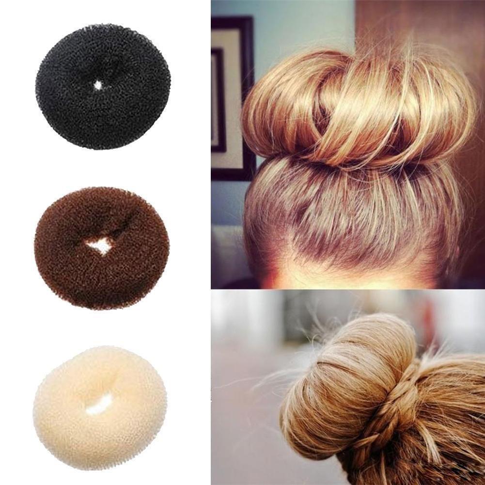 Fashion Hair Bun Donut Shaper Ring Styler Former Style Doughnut Tie Updo Up Do K Bun Hairstyles Donut Bun Hairstyles Hair Donut