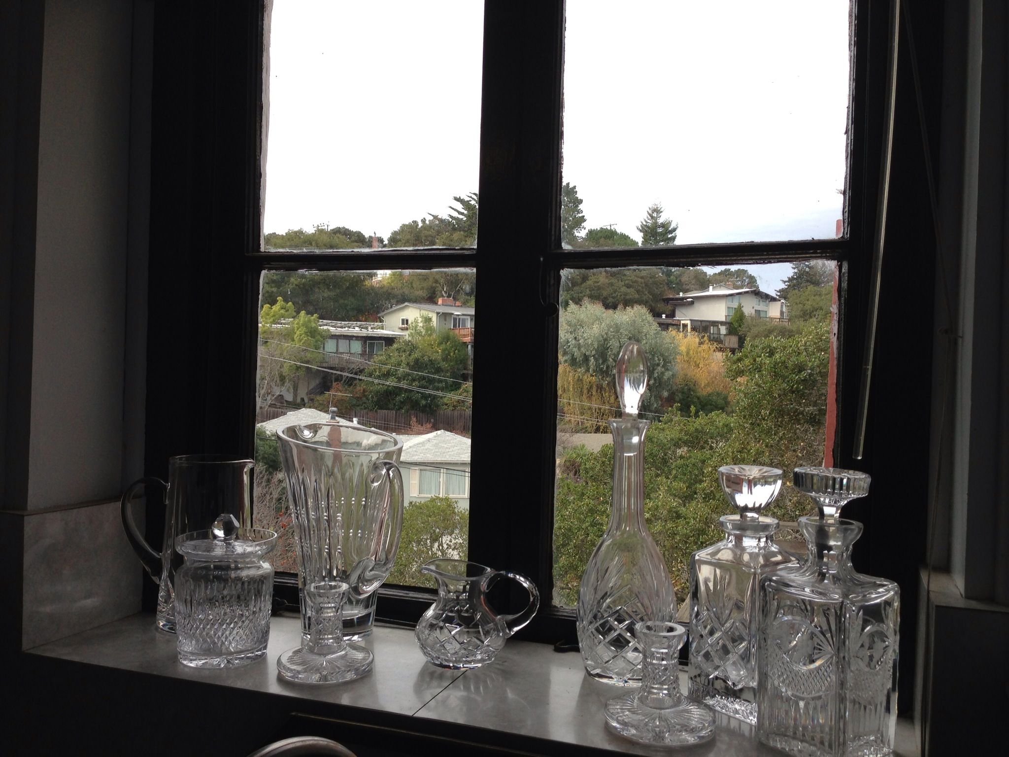 My kitchen window full of crystal spanish villa pinterest