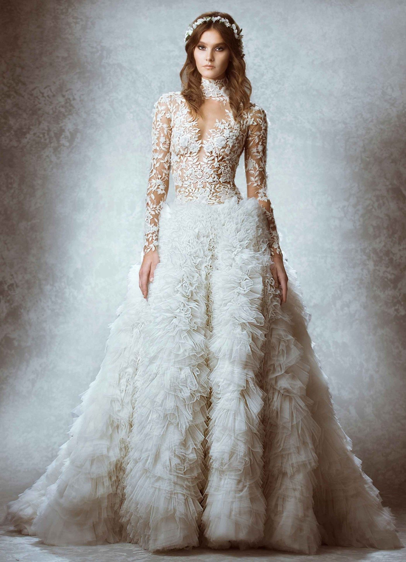 Naughty Gal Shoes : The Most Gorgeous Zuhair Murad Lace Bridal Fall ...