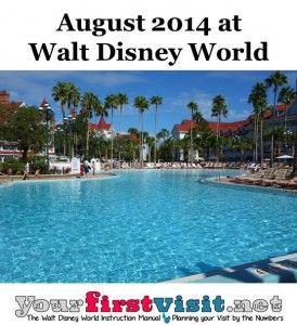 August 2018 at Walt Disney World   August 2014, Walt disney and