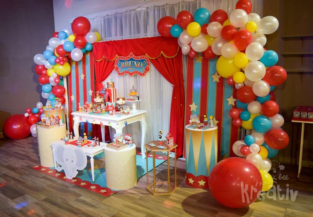 Circus Carnival Birthday Party Ideas Circus Birthday Party