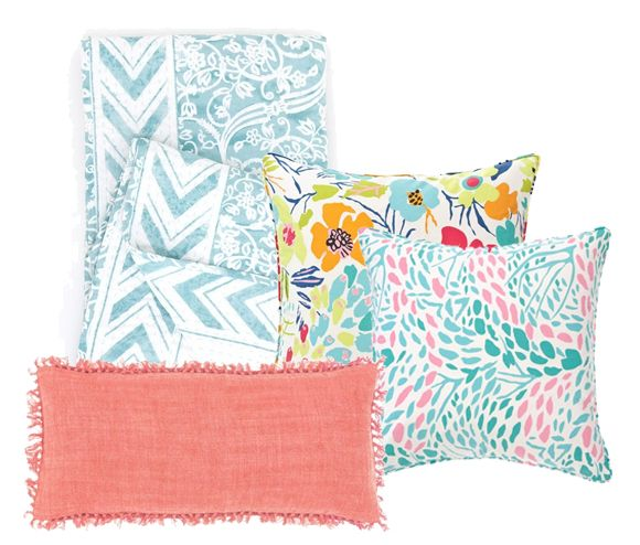 Rest up for hot summer days with comfy pillows and blankets from Pine Cone Hill!