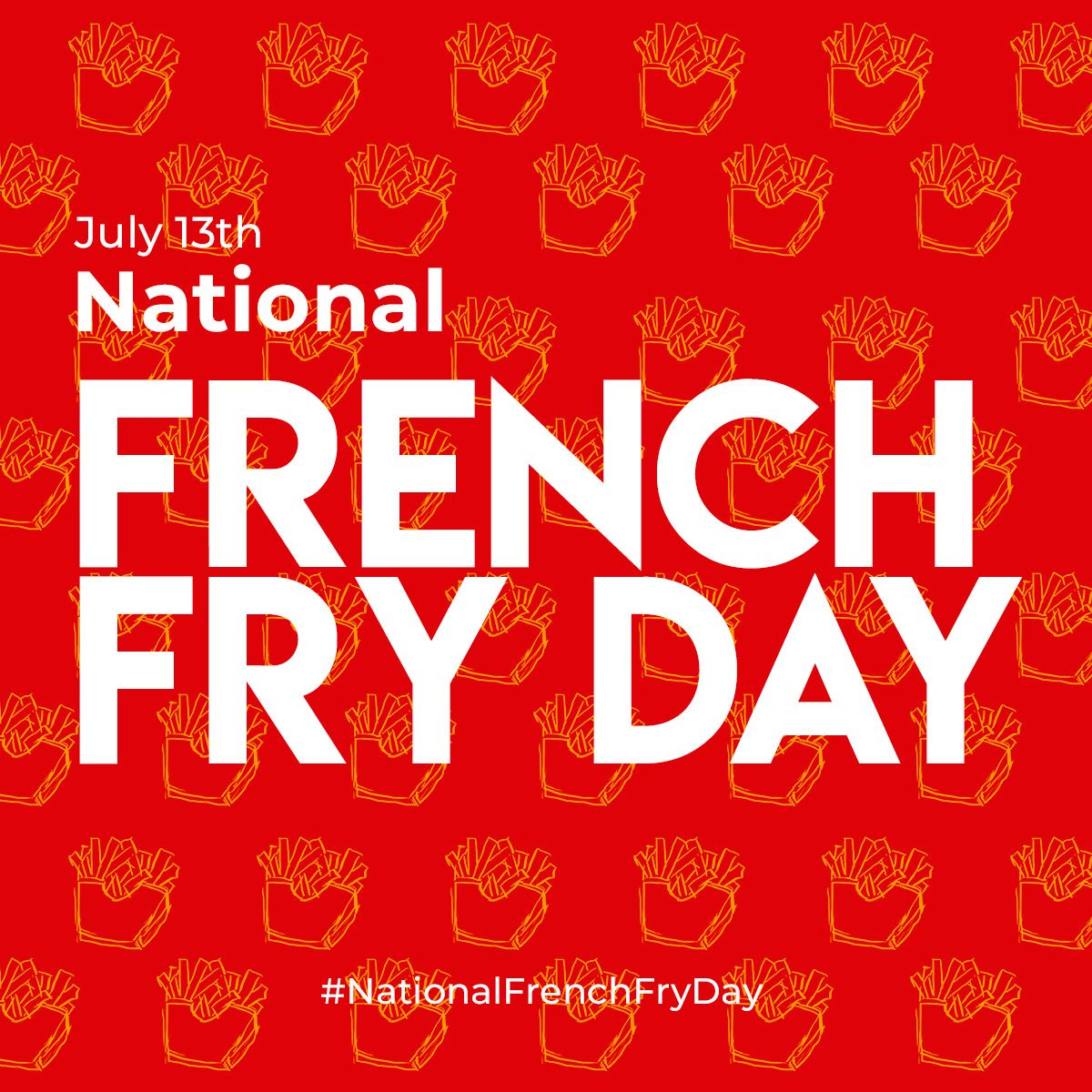 Today is national French Fry Day so treat yourself to some fries for lunch today!!!