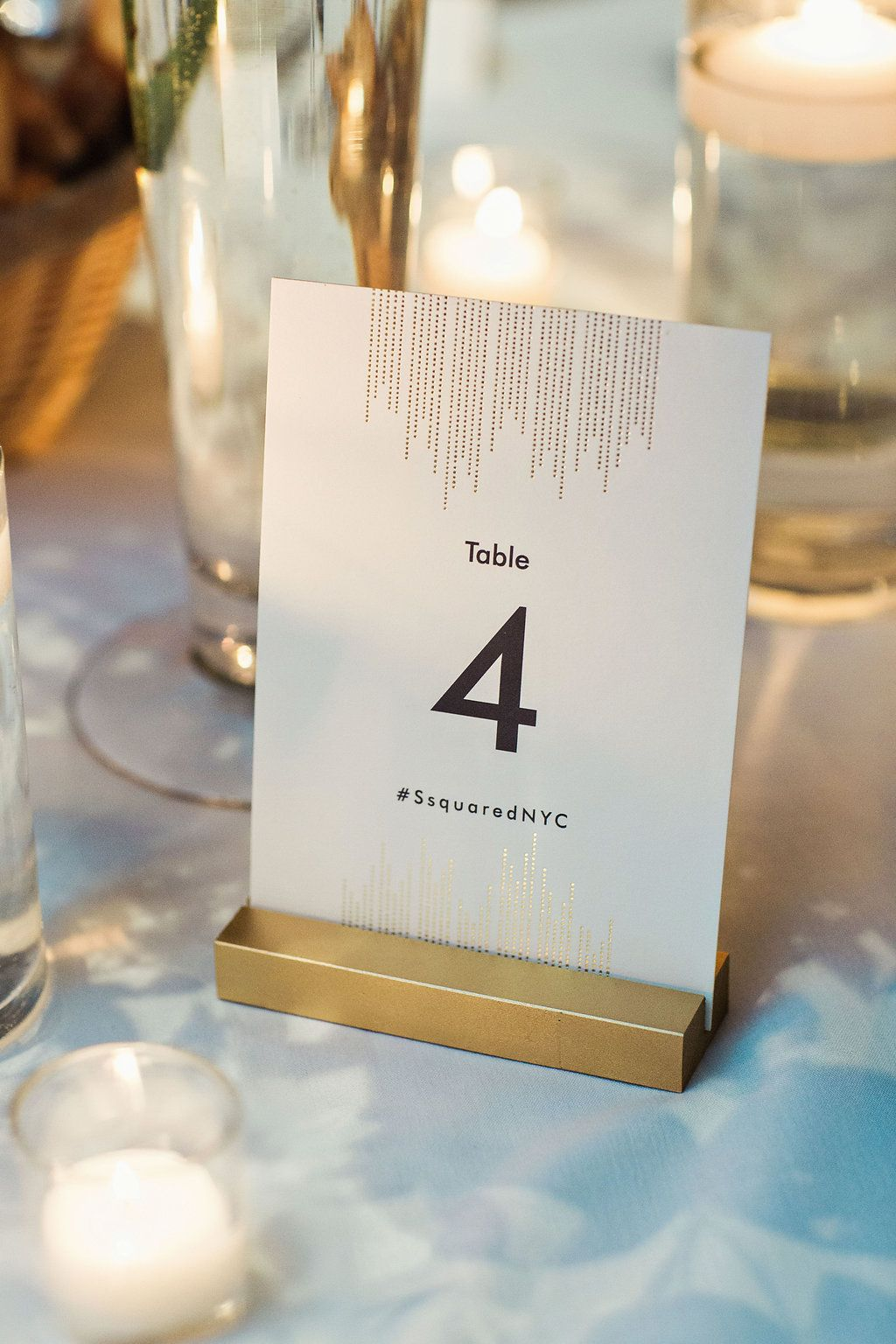 Table Number Brilliant Event Planning Clean Plate