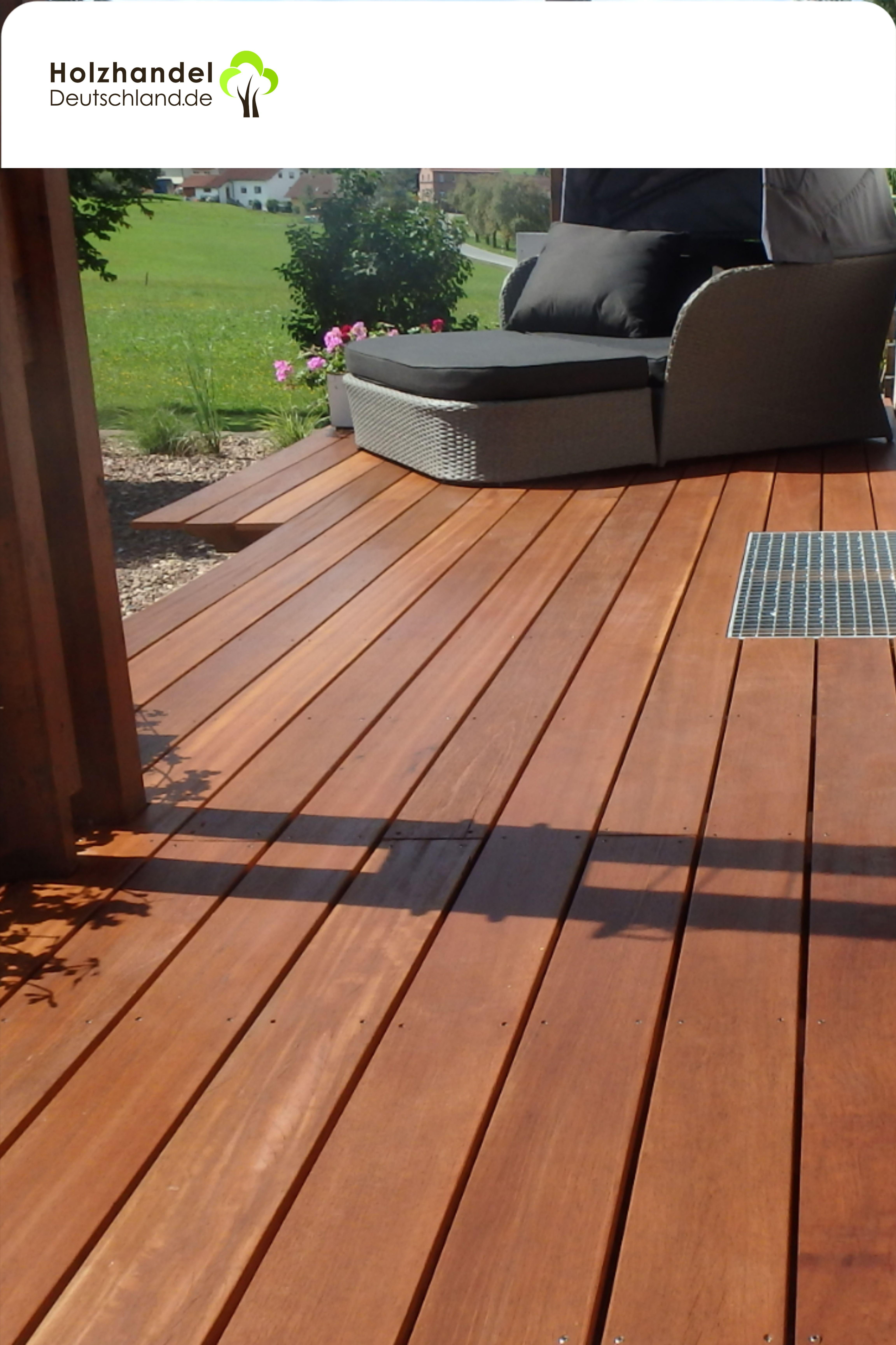 Hochwertige Bangkirai Holz Terrassendielen für eine gemütliche ...