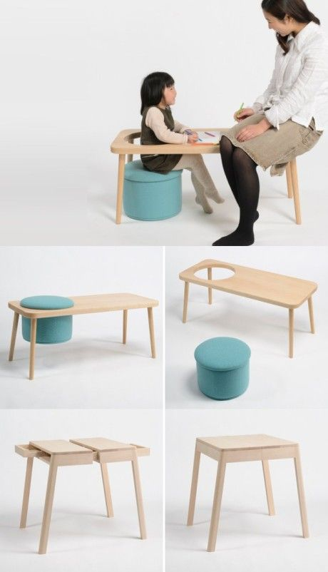 Peachy A Smart Chair Table Set For You To Deal With Kid Theyellowbook Wood Chair Design Ideas Theyellowbookinfo