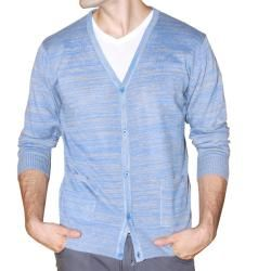 Unlimited Men's Blue Heathered Cardigan - This lightweight, button ...