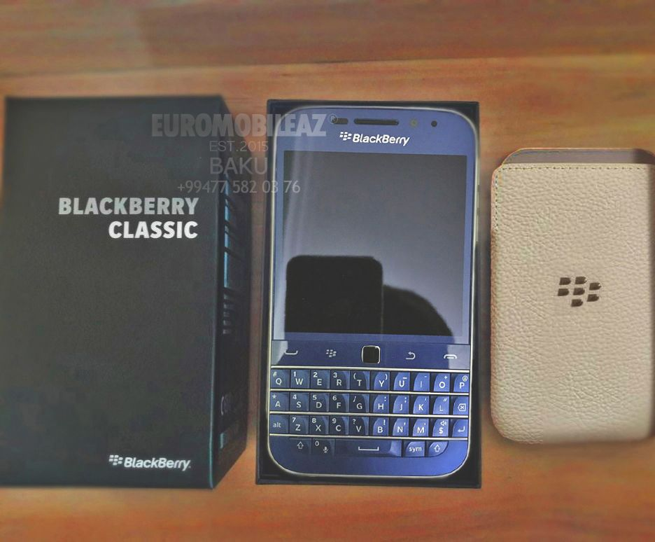Blackberry Classic LIMITED Cobalt Blue (2016/ priced at-$1350