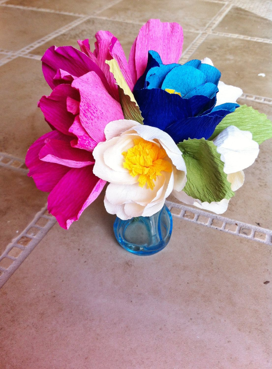 bright wedding flowers made from eco paper & pinterest flowers made from paper plates | Inspiration from blog ...