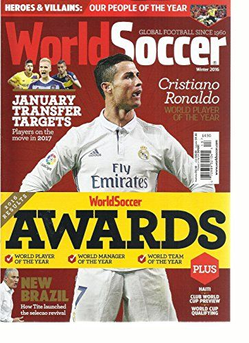 World Soccer Global Football Magazine World Soccer Awards Winter 2016 World Soccer Magazine Soccer Awards Football Books