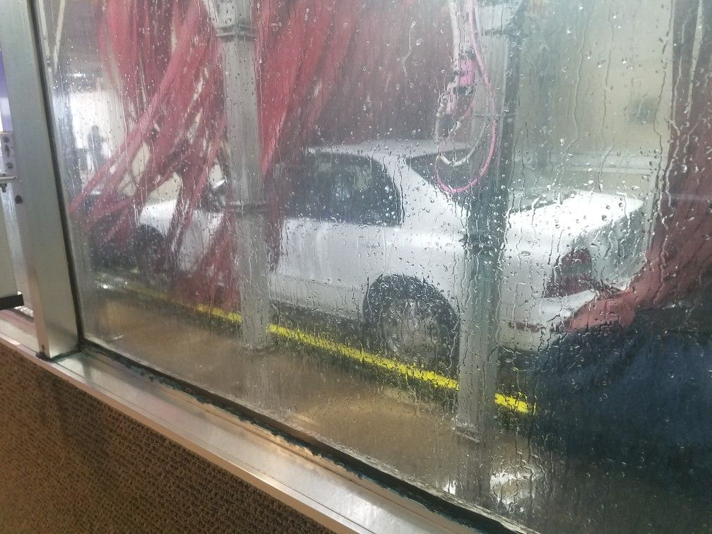 Karr getting a much needed car wash at Sam's car was in