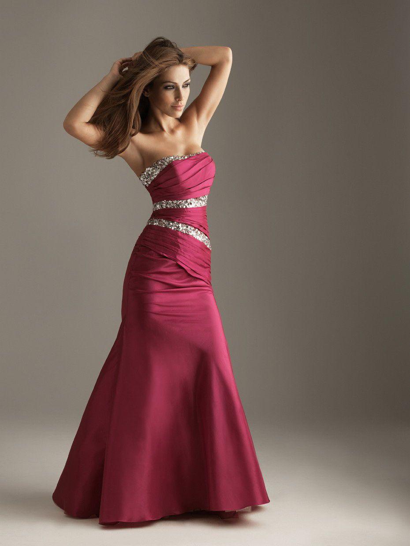 Burgundy gowns mermaid strapless sequin drape burgundy floor