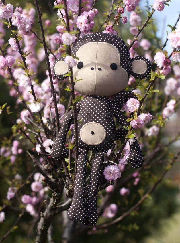Cute monkey doll sewing pattern pdf | Diese liebe, Affen und Puppe