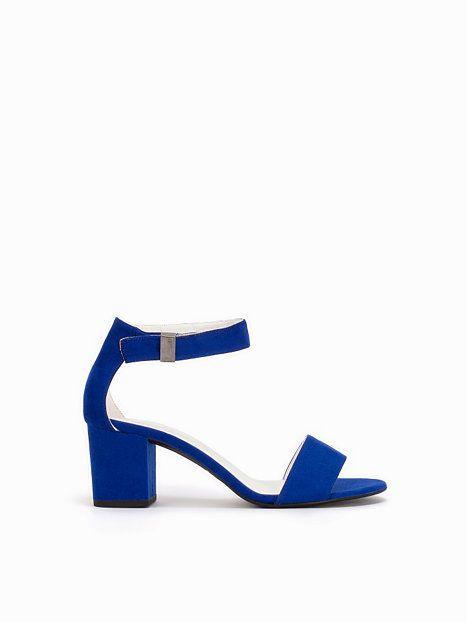 aadc4574 Mid Block Heel Sandal - Nly Shoes - Blå - Festsko - Sko - Kvinde ...