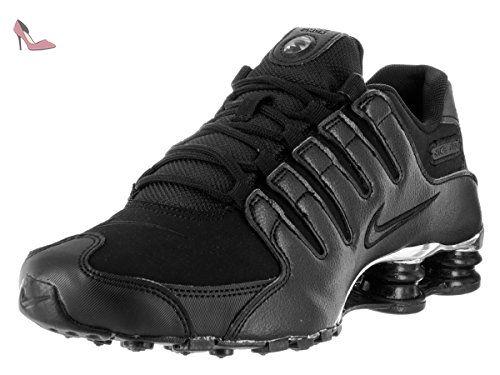 Nike Mens Shox Nz Premium Black Mesh Trainers 42 EU