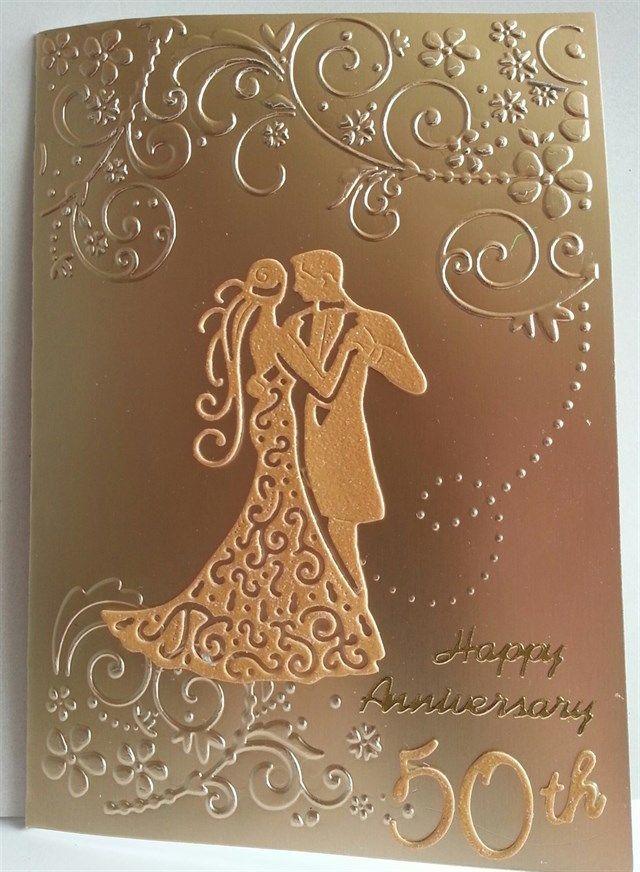quick golden wedding anniversary card  docrafts
