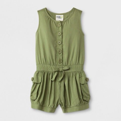 95e2fa659a7e Toddler Girls  Romper - Genuine Kids from Oshkosh Green   Target Pink  Toddler Dress