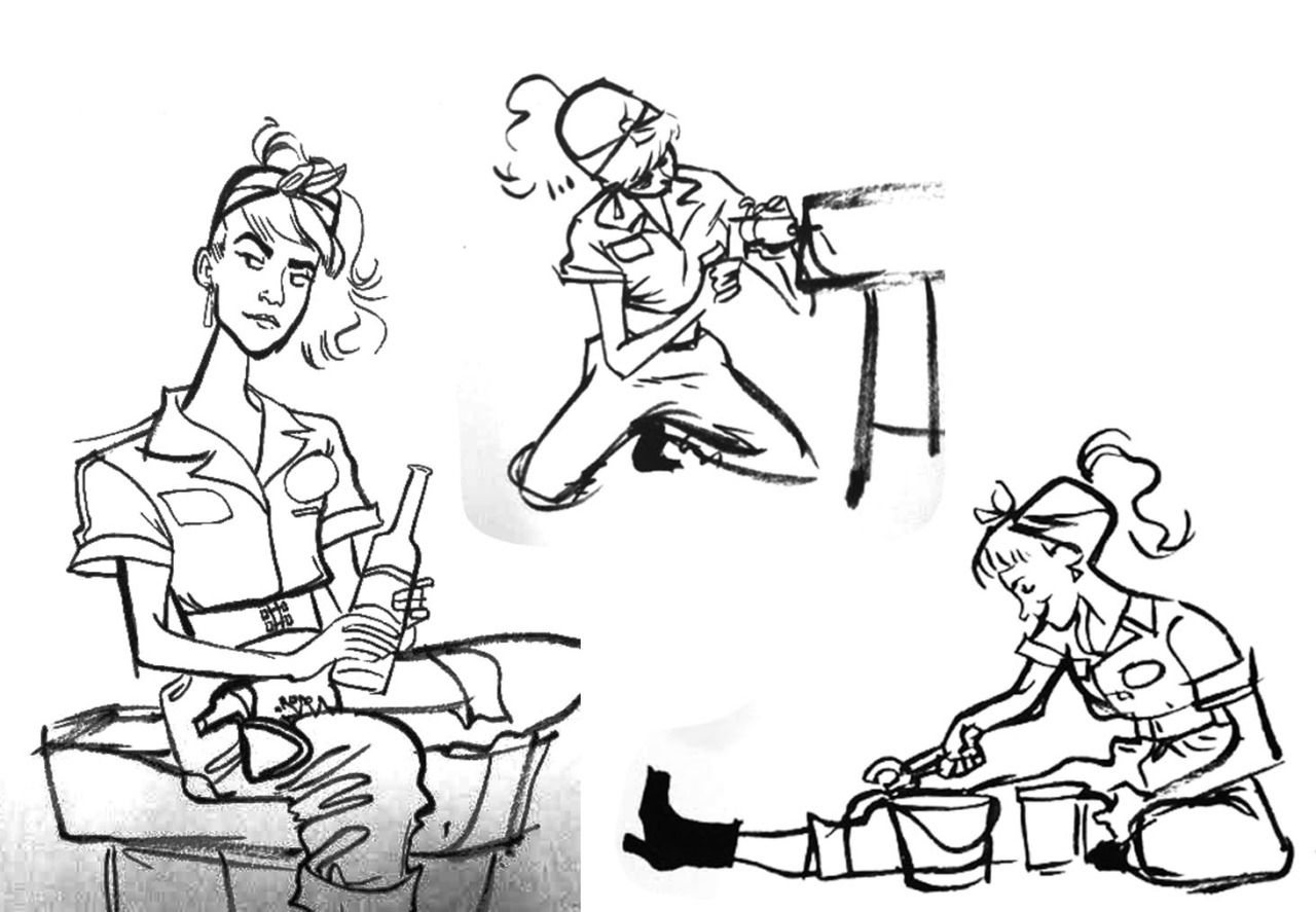Todays life drawings! :) We had such a great model!!