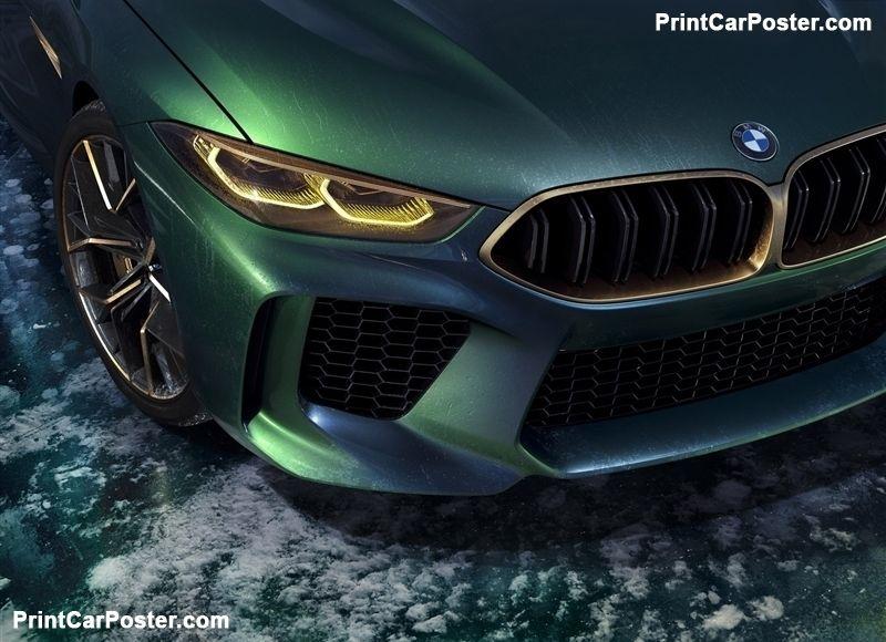 BMW M8 Gran Coupe Concept 2018 poster, #poster, #mousepad, #tshirt, #printcarpos…