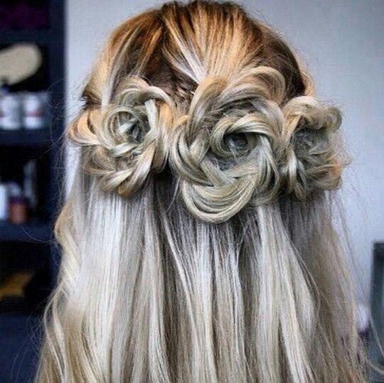 Rose Crown Hair Styles Rose Braid Thick Hair Styles