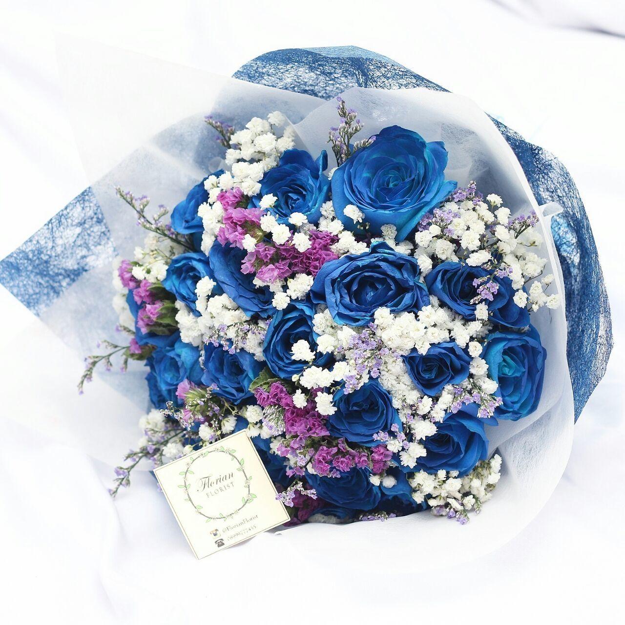 Royal blue wedding handbouquet project by florian florist http royal blue wedding handbouquet project by florian florist httpbridestory izmirmasajfo