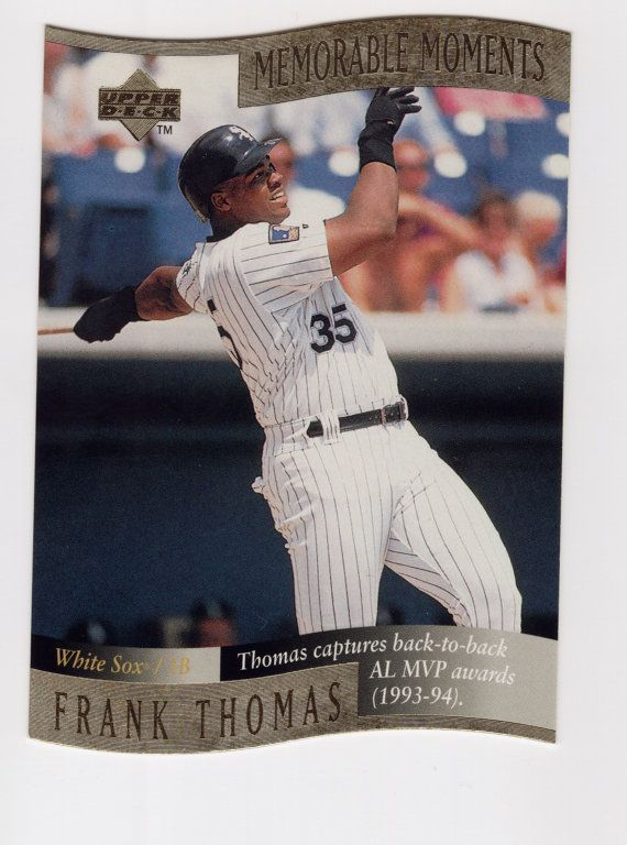 Frank Thomas 1997 Upper Deck Memorable Moments By Pdxtradingcards