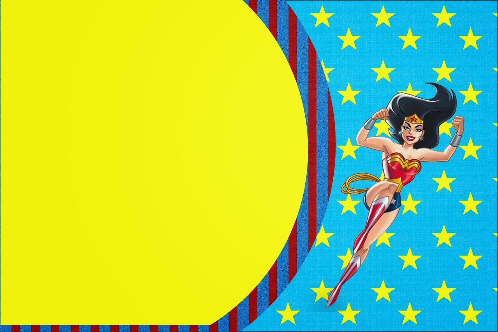 Wonder Woman:Free Printable Invitations. | Girl Party: Wonder Woman ...