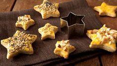 Diese Plätzchen sind nicht süß sondern herzhaft. Als Fingerfood, Partysnack oder kleine Knabberei - Herzhafte Plätzchen schmecken zu vielen Gelegenheiten!