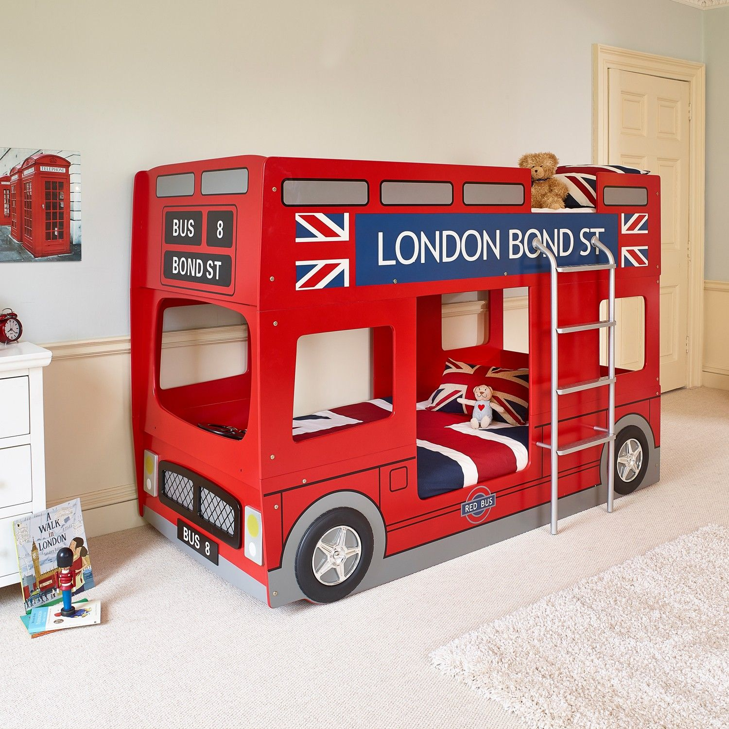 Car bunk beds for kids - London Bus Children S Bed Carpetright