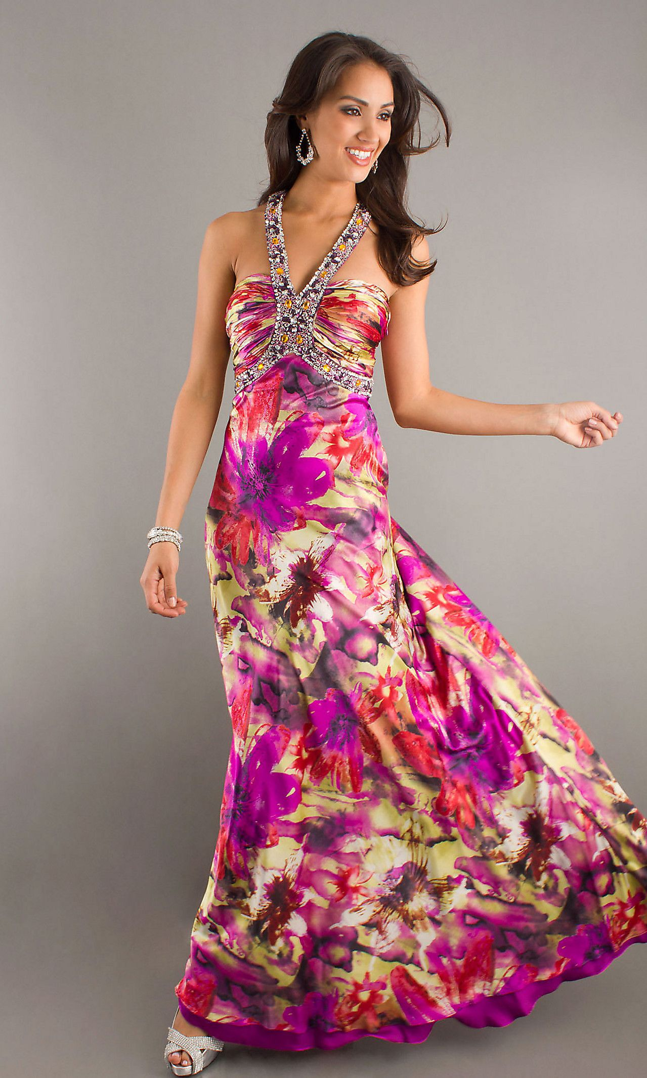 I love the pink colors of this dress if only pinterest