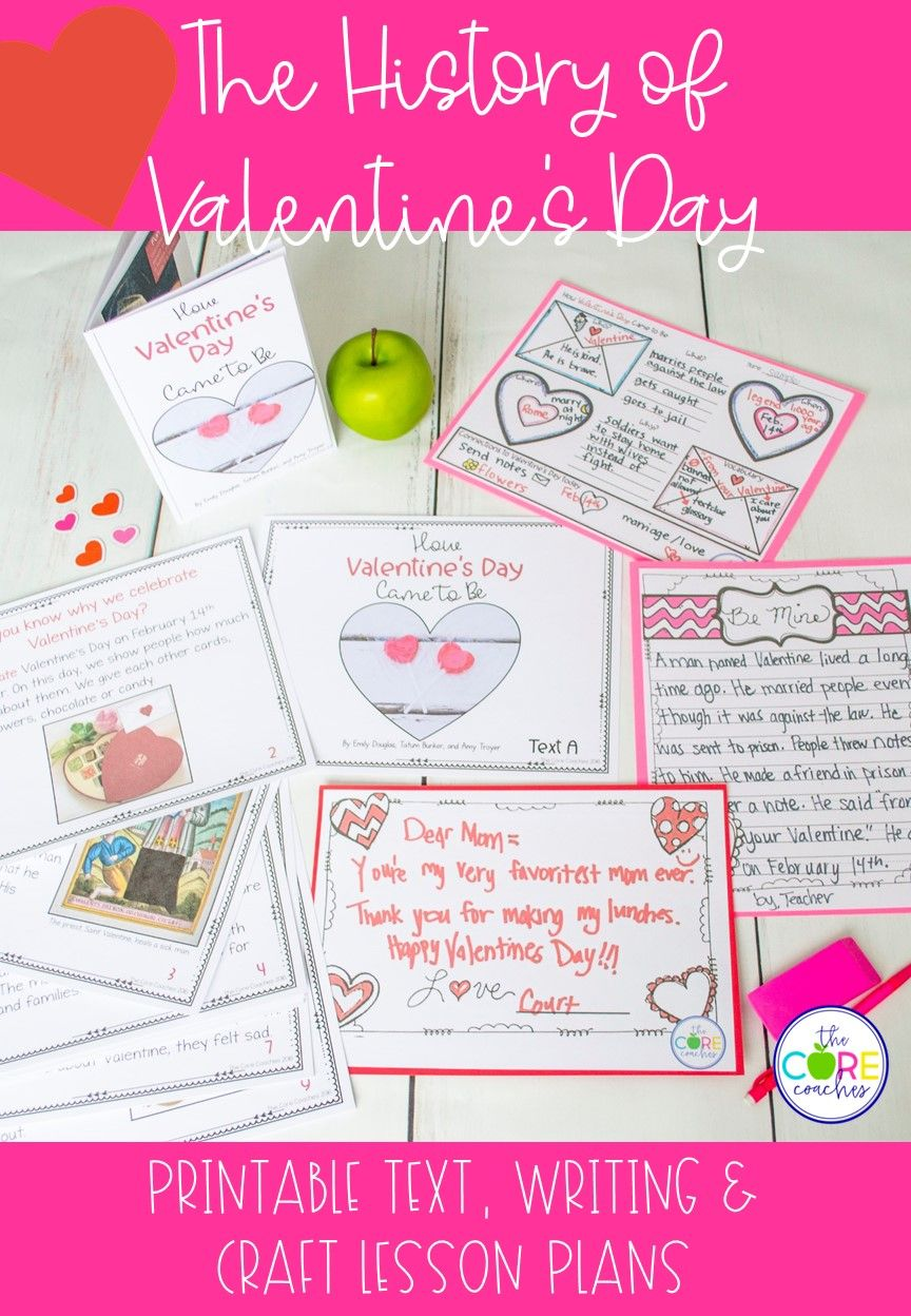 History Of Valentine S Day Printable Text Writing And Craft Lesson Plans 1 3 High School Lesson Plans Valentine Lessons Holiday Lessons [ 1248 x 864 Pixel ]
