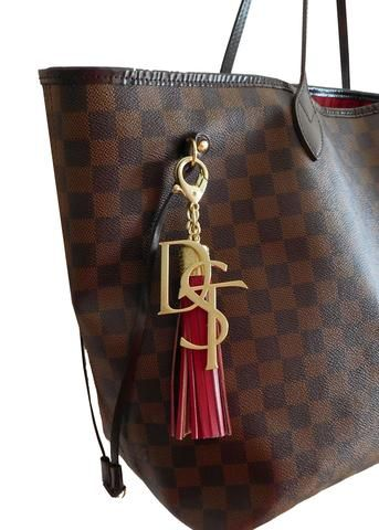 Dst Handbag Charm Tassel Keychain Set