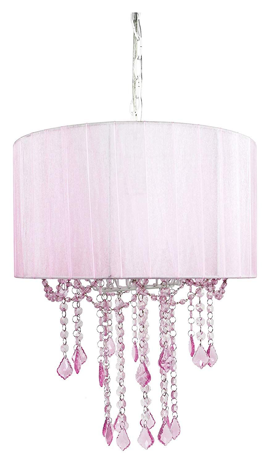 Amazon Com Tadpoles One Bulb Shaded Chandelier Pink Baby