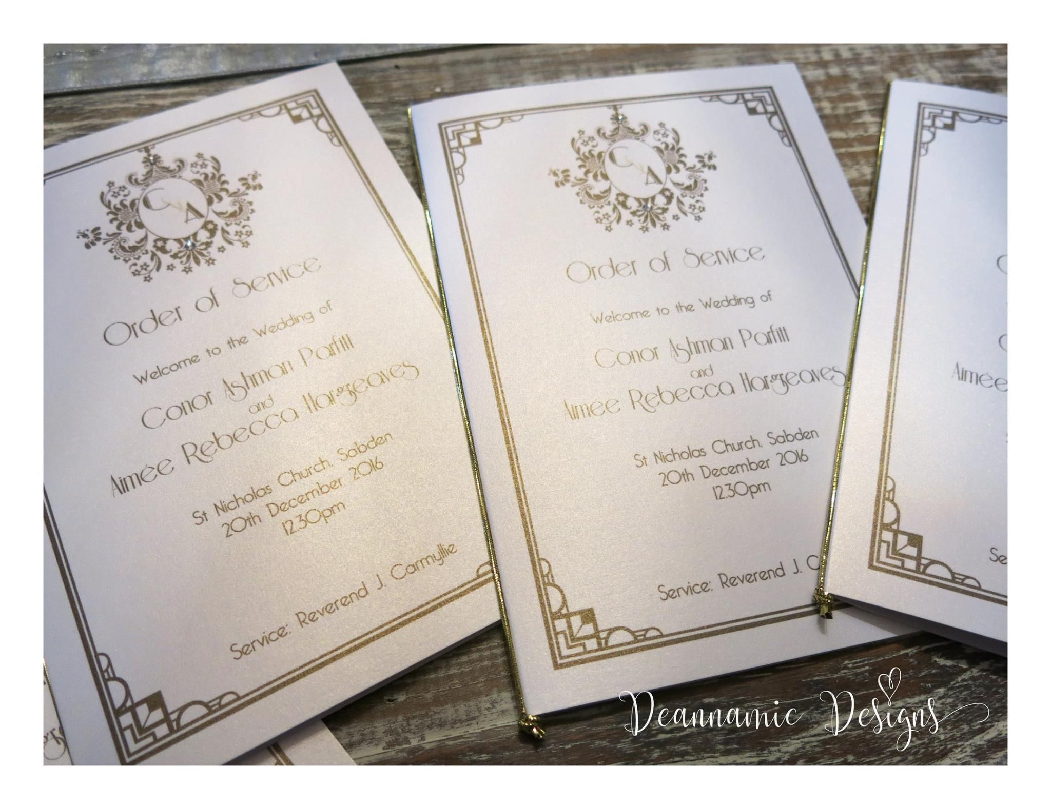 Art Deco themed stationery Deannamic Designs