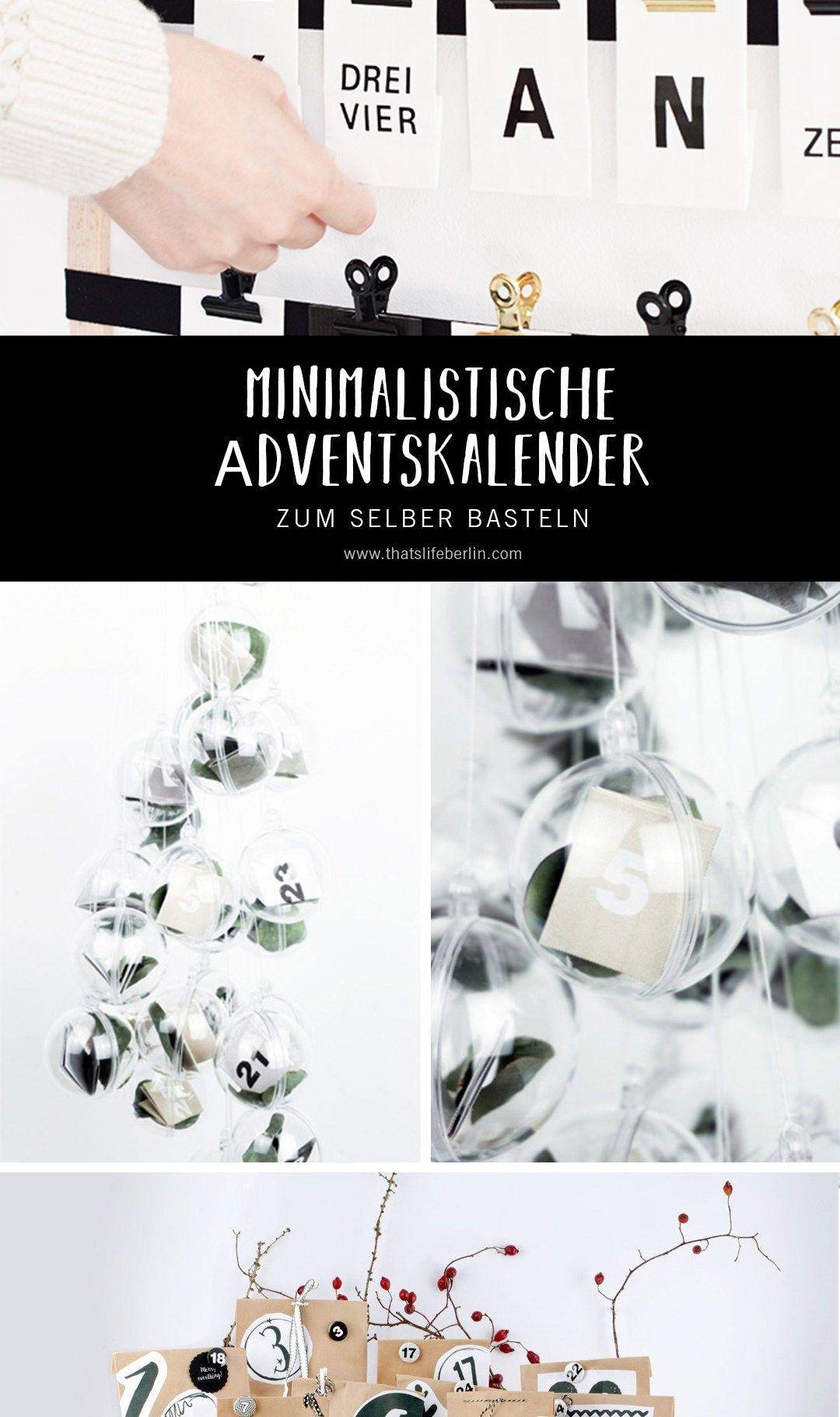 6 Minimalistische Adventskalender Zum Selber Basteln