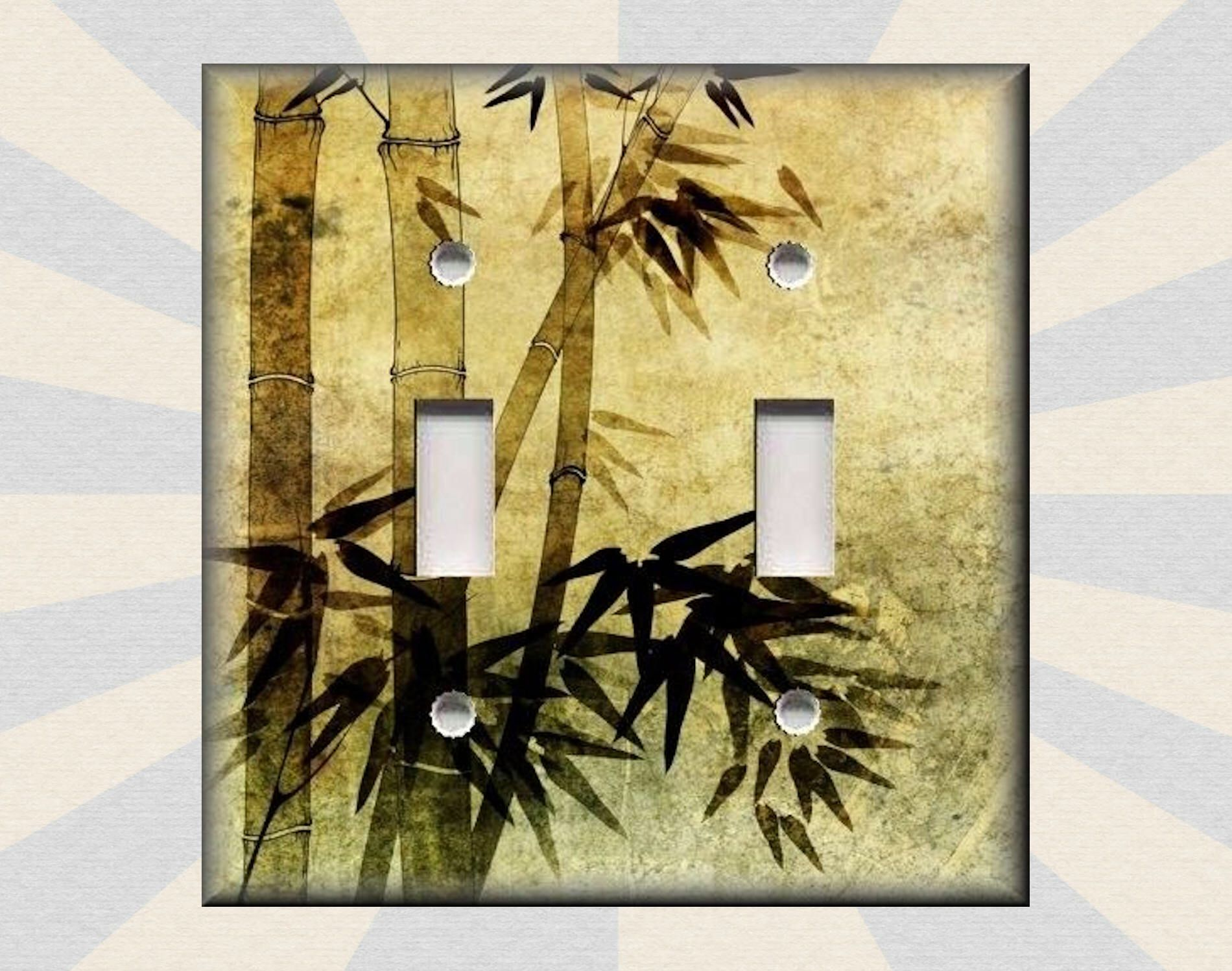 Metal Light Switch Plate Cover - Asian Art Home Decor Bamboo Stalks ...